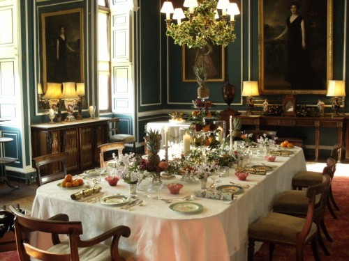 Staterooms at Picton Decorated for a Victorian Christmas