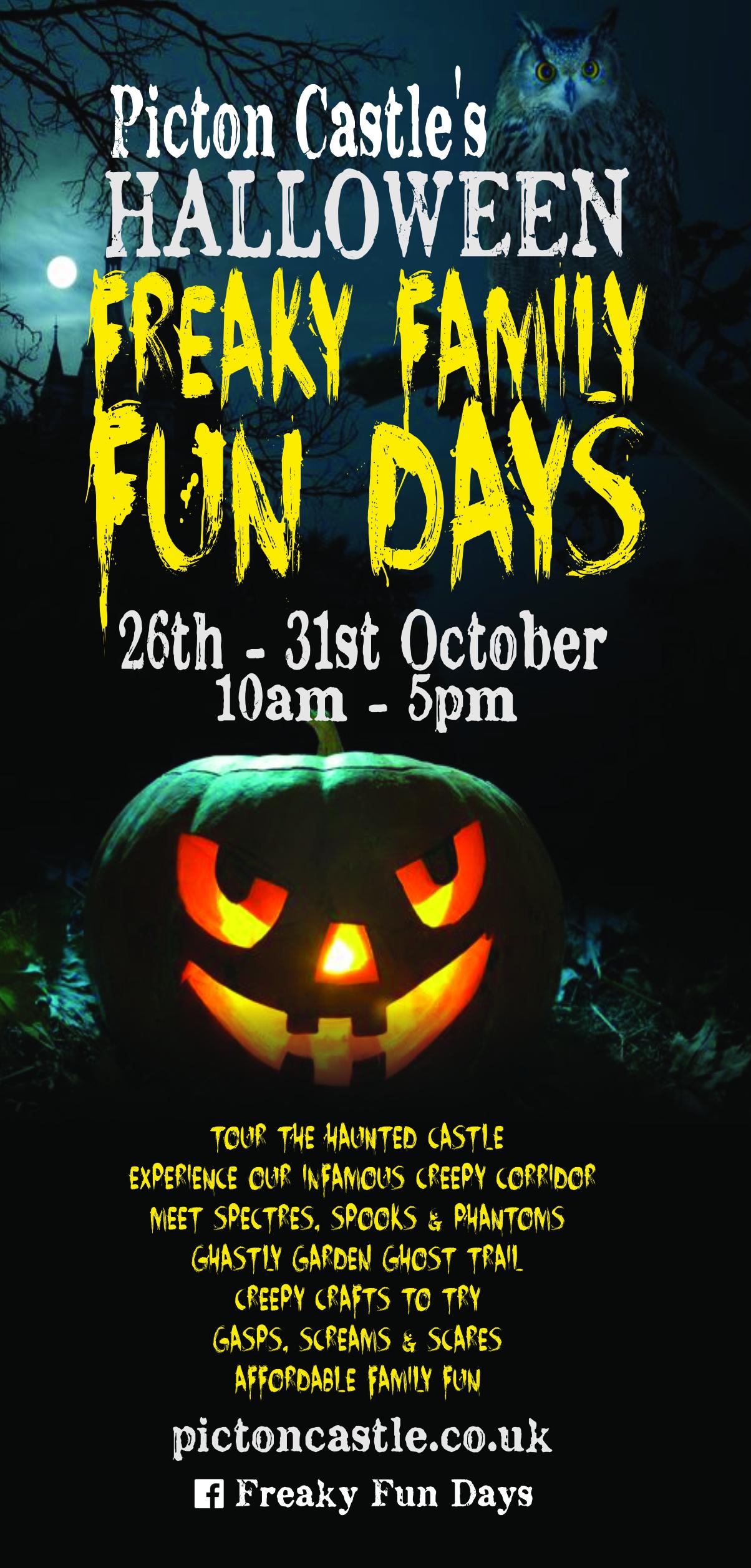 halloween freaky fun days for kids - picton castle & gardens